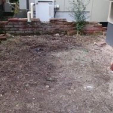 お庭掃除後