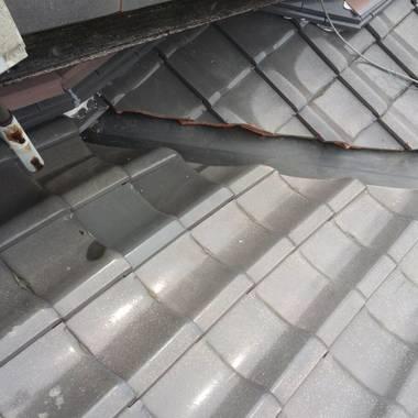 和瓦修理工事 雨漏り前対策 施工後 谷