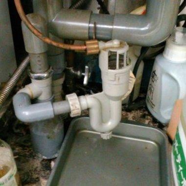 シンク水漏れ修理後