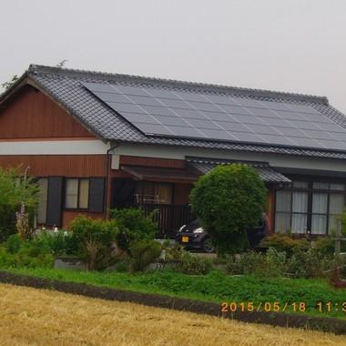 玉名郡南関町 太陽光パネル設置