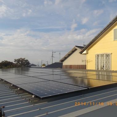 下益城郡美里町 太陽光パネル設置