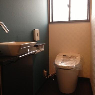 トイレリフォーム後 便器 手洗い