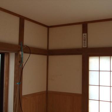 和室を洋室にリフォーム 天井部分