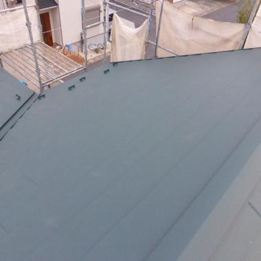 屋根工事後