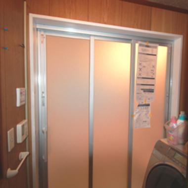 浴室リフォーム 完了 出入口