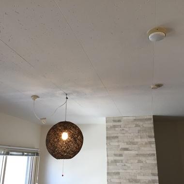 内装 修理 | 室内塗装&電気配線工事・照明交換後 照明取り付け
