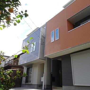 新築工事 住宅外観 斜め