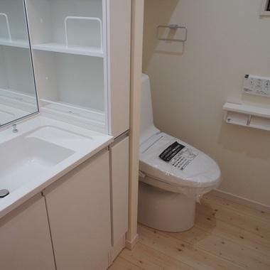 新築工事 洗面所トイレ