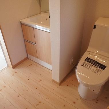 新築工事 洗面・トイレ