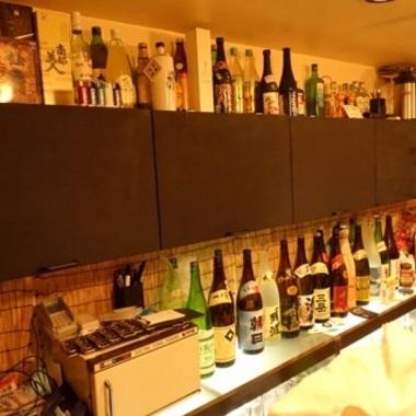 居酒屋黒板取り付け後棚1