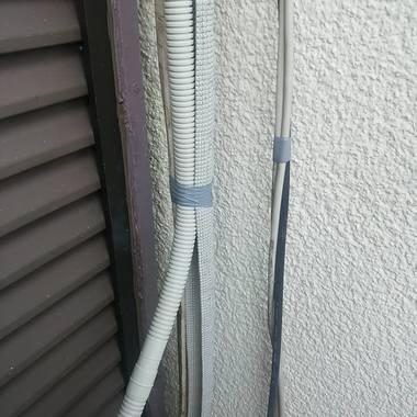 エアコンのドレーンホース 排水管 の取り替え作業後