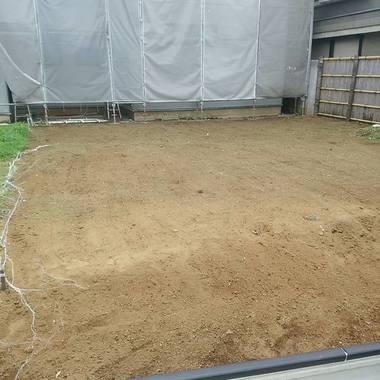 草刈り作業後 敷地