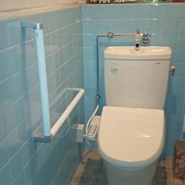 施工後の洋式トイレ