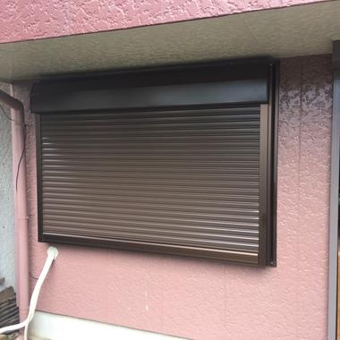 内装 修理 | シャッター付きサッシ取替後の窓
