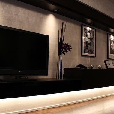 施工後のテレビボード