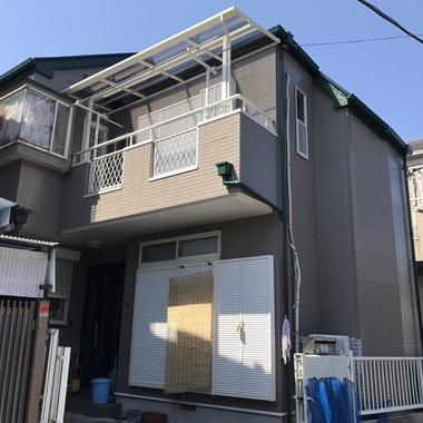 外壁塗装後の住宅外観