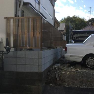 廻りからの視界を遮る目隠しフェンスの施工後写真(0枚目)