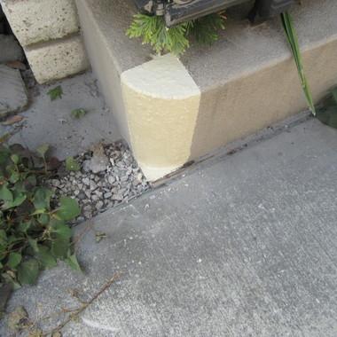 花壇の角削り 施工後
