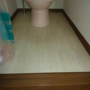 トイレ クッションフロア貼替工事 完了