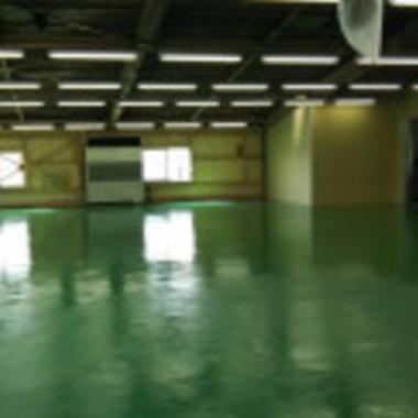 工場床塗装工事 完了