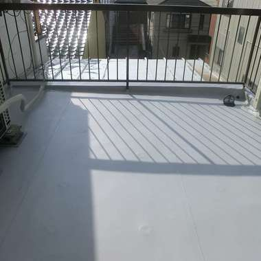 屋上シート防水作業 完了