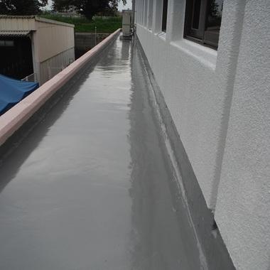 庇ウレタン塗膜防水塗装 完了