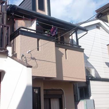 外壁塗装後 全体斜めから