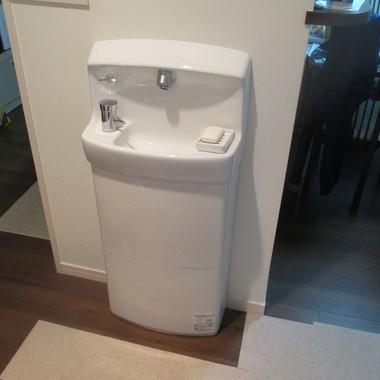 手洗いスペース新設後