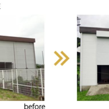 ポンプ小屋 塗装前後