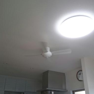 キッチンリビングリフォーム完了 照明