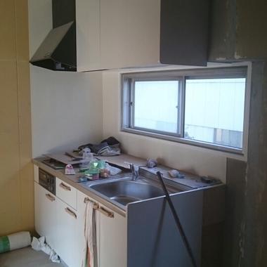 集合住宅リノベーション作業中1 キッチン
