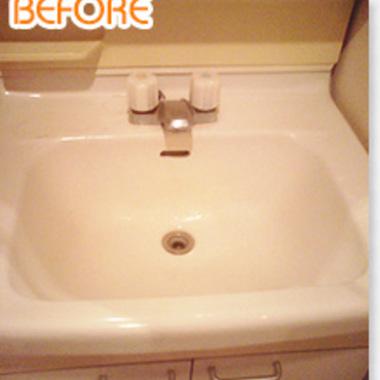 古い洗面器のみのタイプの洗面台