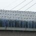 事務所 傷んだ青い屋根