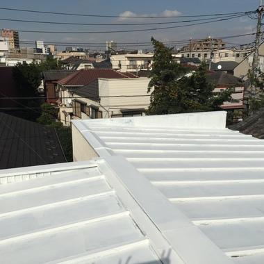 荒川区 屋根防水塗装工事 前