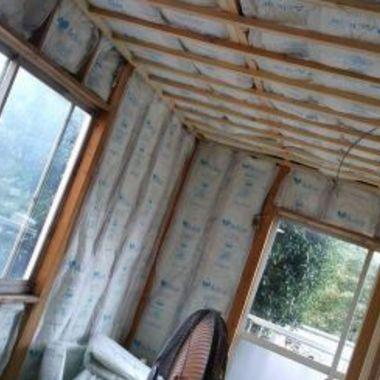 アパート内装工事前 天井部分