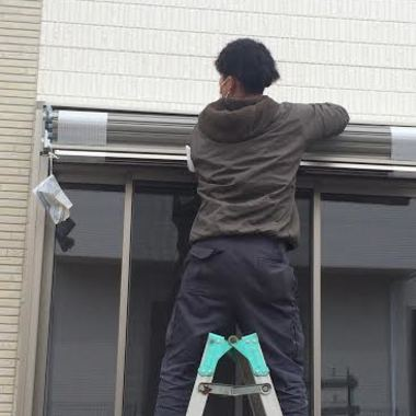 横浜市 戸建て シャッター取り付けの施工前写真(1枚目)