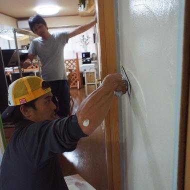 住宅リノベーション 天然スタイル土壁工事中
