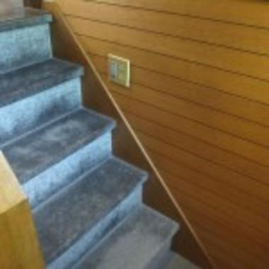フローリング張替え前 階段