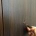 建具凹み穴の補修途中 アップ画像