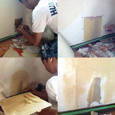 壁紙補修工事行程