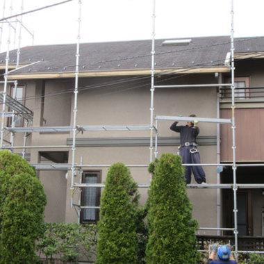 外壁塗装 屋根塗装前 横側
